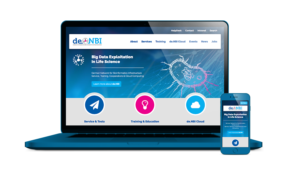 denbi joomla website frontend backend theme