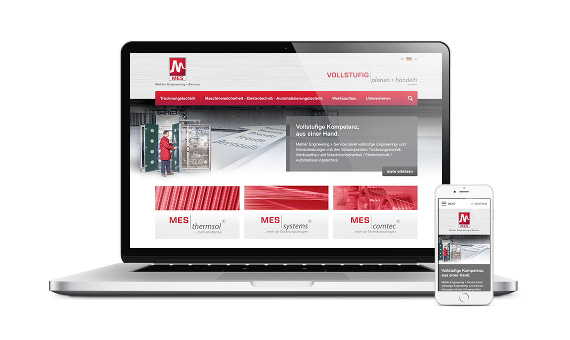 Mehler Engineering + Service Corporate Website