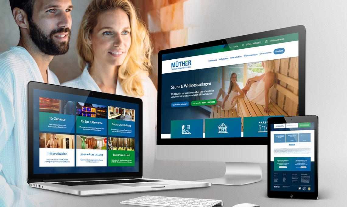 Saunahersteller Müther Corporate Website