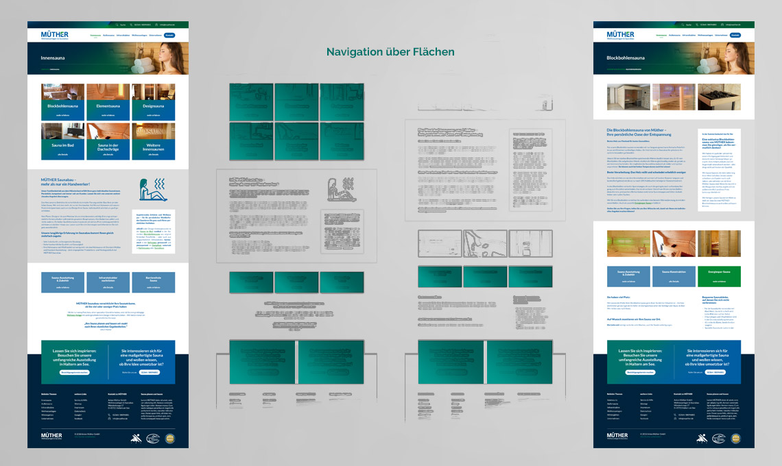 Corporate Website – Navigation über Flächen